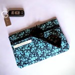 Blue Floral Purse - Free Postage