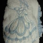 Ladies After Shower Towel Cap- Victorian Ladies 1