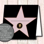 Walk of Fame Star Hollywood Place Cards (DIGITAL)