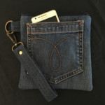 Upcycled Denim Pocket Wristlet