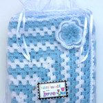 Baby Boy/ Blue & White Crochet blanket