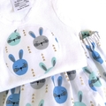 "Size 1 to 3 months - ""Bunnies"" Nappy Pants and Appliqued Singlet"