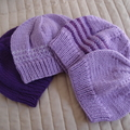 *Grow Set Special * 4 beanies (New born to 3 years + ): Girl, washable