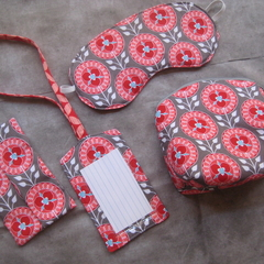 Handbag / Travel Set - Pouch / Eye Mask / Luggage Tag / Tissue