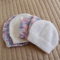 *Grow Set Special * 4 beanies (New born to 3 yrs): Girl, washable