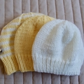 *Grow Set Special * 3 beanies (New born to 12 mths): Girl, washable