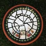 Mosaic garden bowl