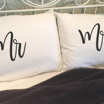 My Side, your side pillow cases. Wedding, anniversary, engagement