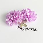 Ruffled Satin Flower - Purple - Hair Clip