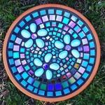 Mosaic garden dish