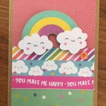 Rainbow Cloud card  - handmade - happy birthday - free Aus Post