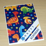 Kids Happy Birthday card - dinosaurs