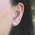 Seal Stud Earrings in Sterling Silver