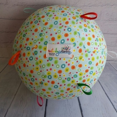 Balloon Ball:  Blue fun multi spots with rainbow of Taggies