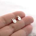 Sleepy Snail Studs Sterling Silver