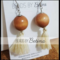 BEE//NATURAL: Wood & Cream Tassel Earrings