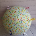 Balloon Ball:  Blue fun multi spots with rainbow of Taggies
