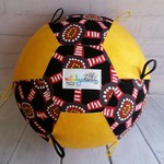 Balloon Ball: Dreamtime Indigenous print with Yellow tonal design. :Taggie