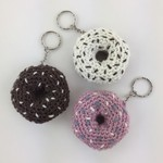 Novelty Crochet Keyrings | Donuts | Backpack | Hand Crocheted | Ready to Post