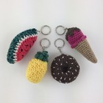 Crochet Keyrings | Donut | Icecream | Watermelon | Pineapple | Ready to Post