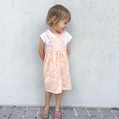 Pinny Dress Size 2 Pink and Cream Stripe