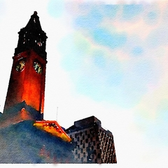 Watercolour Print - Brisbane City Hall Clock Tower