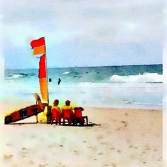 Watercolour Print - Lifeguards