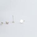 Apple Stud Earrings Sterling Silver