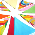 Bold & Bright Rainbow Bunting  Flags. Multi-Colour Home Decor . Party
