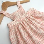 Baby Pinny Dress Size 0 Pink and Cream Stripe