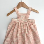 Baby Pinny Dress Size 00 Pink and Cream Stripe