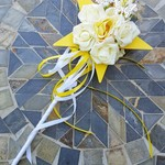 Floral Wand - Yellow Star Wand with Butterflies for Flower-girl Wedding Flowers