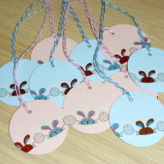 Easter Gift Tags - Set 10 - cute Easter bunnies