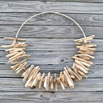 60cm Driftwood Wreath Tribal Necklace Beach Bohemian Rustic Boho Home Decor