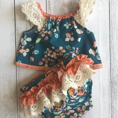 Baby Girl Two Piece Set - Fleet & Flourish, Sizes 000,00,0,1,2