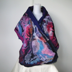 Gypsy Felted Wrap Shawl Felt Multicolor