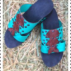 Kangaroo leather Sandals OOAK