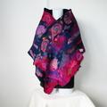 Felted Scarf Wrap Shawl Felt Silk Multicolor