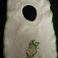 Babies Embroidered Towelling Bibs-Pea-Baby Boy5,6,9
