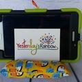 Technology Pillow: Youcan Toucan. Bright colours.