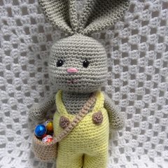 Boy Easter Bunny, READY TO POST, Crochet toy, Boy Easter Gift