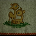 Babies Embroidered Towelling Bibs-Adorable Deer-1-8 Thoughtful