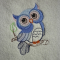 Babies Embroidered Towelling Bibs-