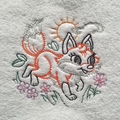 Babies Embroidered Towelling Bibs- Vintage Woodland 2