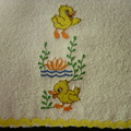Babies Embroidered Towelling Bibs-"