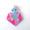 UNICORN THRONE in Blue  >LTD Edition, Playful, Bright, Minimalist Design<