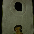 Babies Embroidered Towelling Bibs-Ducks-1-4
