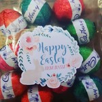 Personalised Easter stickers - Set 15 - watercolour wreath!