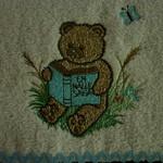 Babies Embroidered Towelling Bibs-Garden Bear