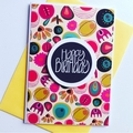 Funky and bright happy birthday for her elephant card